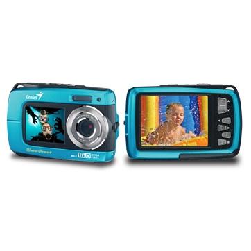 Genius digitální fotoaparát G-Shot 510/ vodotěsný IPX08/ 8MP/ modrý - 32300104101