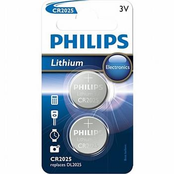 Philips baterie CR2025 - 2ks - CR2025P2/01B