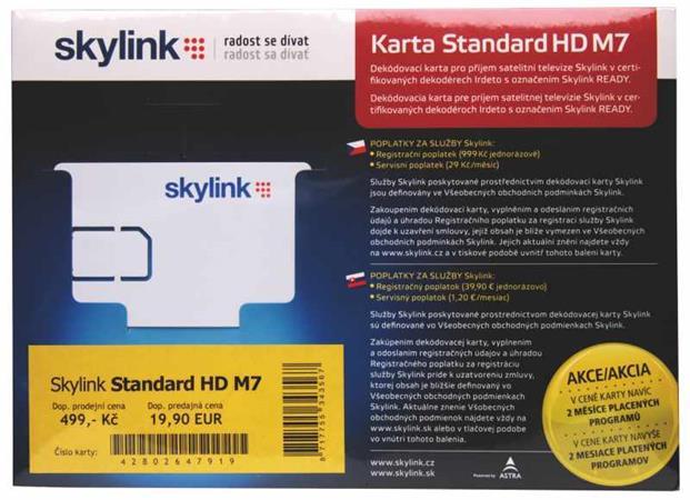 Skylink Standard HD M7 (Irdeto) karta - 2520500381