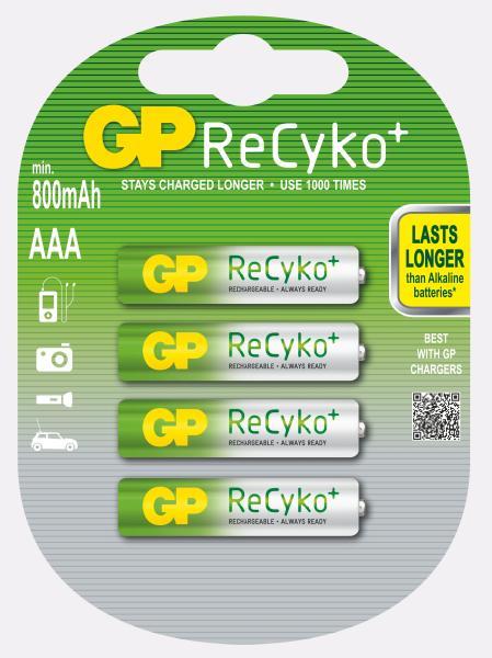 GP AAA 800 Recyko+ Ni-MH - 4 ks - 1033114067