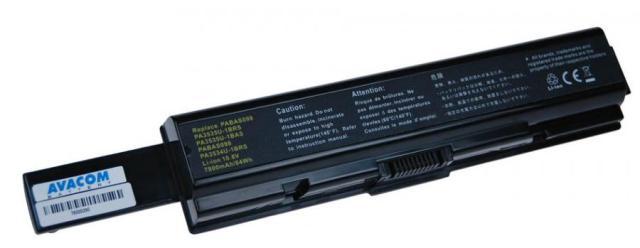 Náhradní baterie AVACOM Toshiba Satellite A200/A300/L300 Li-ion 10,8V 7800mAh/84Wh - NOTO-A200h-806
