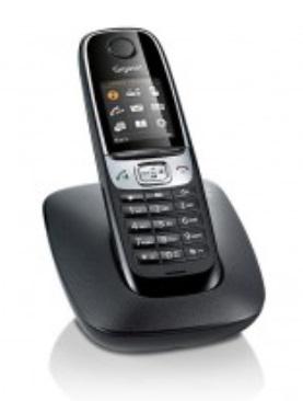 SIEMENS Gigaset C620 černá - DECT/GAP bezdrátový telefon - GIGASET-C620