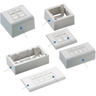 Modulární datová zásuvka UTP CAT5E 1xRJ45 (na i pod omítku) - 2360