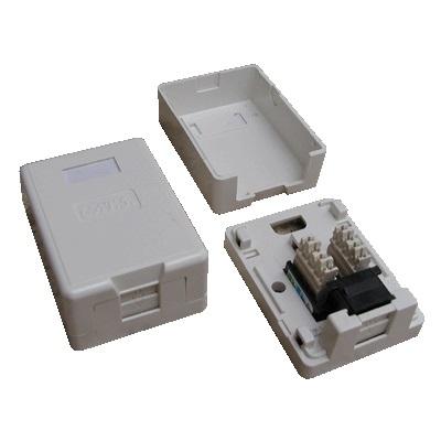 DATACOM Datová zásuvka UTP CAT6 1xRJ45 na omítku (protiprachová) bílá - 2335