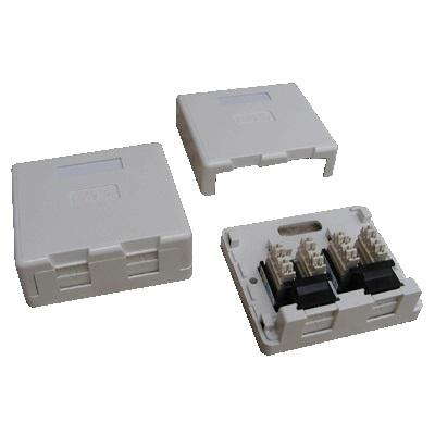 DATACOM Datová zásuvka UTP CAT6 2xRJ45 na omítku (protiprachová) bílá - 2336