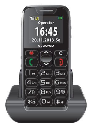 EVOLVEO EasyPhone, mobilní telefon pro seniory s nabíjecím stojánkem, snadné ovládání - EP-500