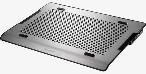 "Coolermaster chladicí ALU podstavec A200 pro NTB do 16"" black, 2x14cm fan, USB hub - R9-NBC-A2HK-GP"