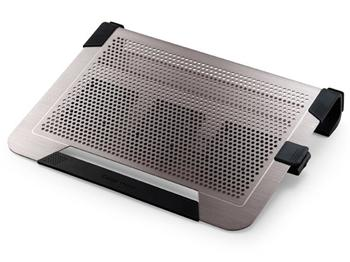 "Coolermaster chladicí ALU podstavec NotePal U3 PLUS pro NTB 15-19"" titanium, 3x8cm fan - R9-NBC-U3PT-GP"