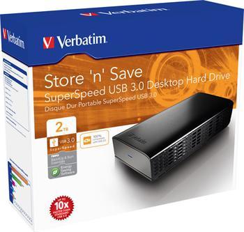 "VERBATIM Hard Drive 3,5"" 2TB USB 3.0 Store.n.save External - 47672"