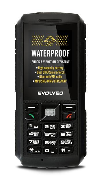 EVOLVEO StrongPhone X1, vodotěsný odolný Dual SIM telefon - SGP-X1