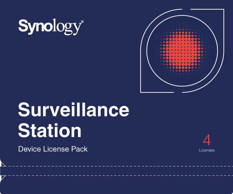 Synology Camera License Pack x 4pack - DEVICE LICENSE (X 4)
