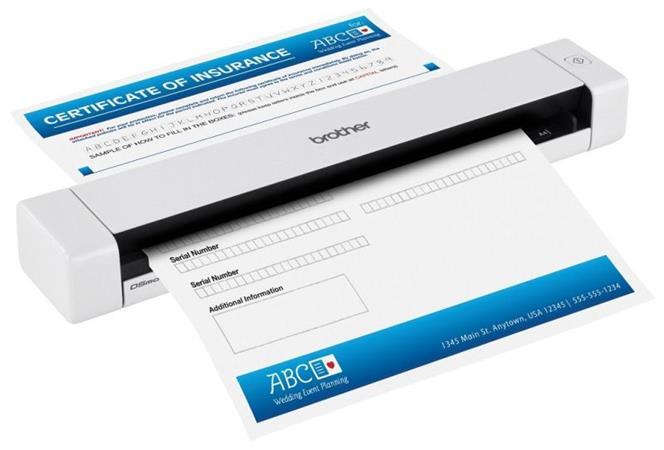 Brother mobilní skener DS-620 7,5 str./min., 600 x 600 dpi, 24-bit - DS620Z1