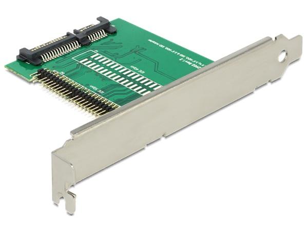 Delock adaptér SATA 22 pin > IDE 44 pin SSD / HDD se záslepkou do slotu - 62481