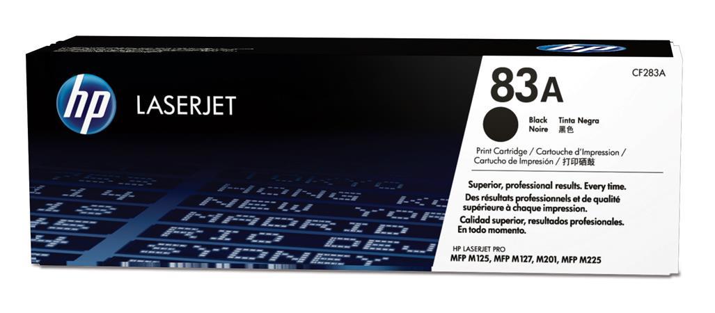 HP CF283A Toner 83A pro LJ M125nw,a/M201n,dw/M127fn,fw (1500str), Black - CF283A