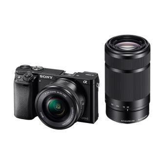 SONY ILCE-6000 Fotoaparát Alfa 6000 s bajonetem E + 16-50mm a 55-210mm objektiv - Black - ILCE6000YB.CEC