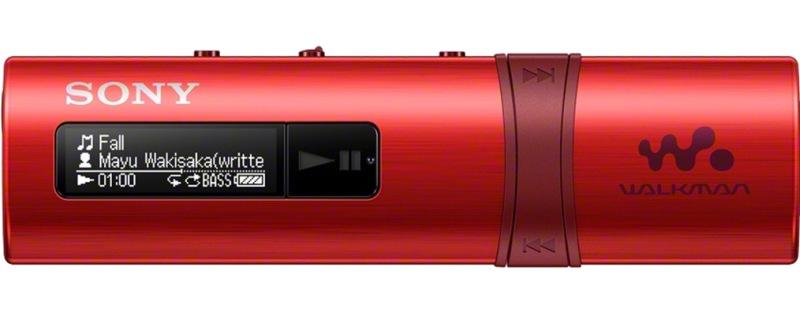 SONY NWZ-B183 – Přehrávač WALKMAN® s portem USB, 4GB RED - NWZB183R.CEW