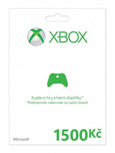 Xbox LIVE Předplacená karta 1500 Kč - MSXP41953