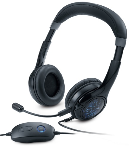 Genius headset - HS-G450 Gaming, sluchátka s mikrofonem, 7.1 a pre-set EQ, LED podsvícení - 31710059101