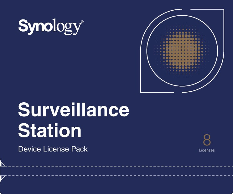 Synology Camera License Pack x 8pack - DEVICE LICENSE (X 8)