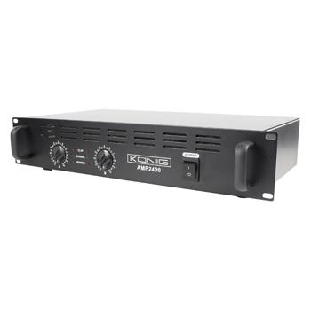 König PA-AMP2400-KN - PA zesilovač 2 x 120W - PA-AMP2400-KN