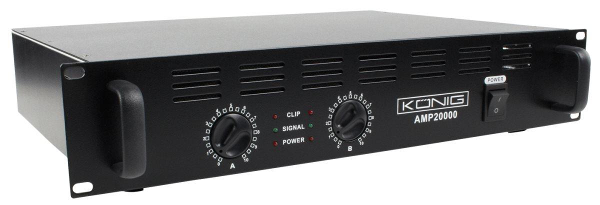 König PA-AMP10000-KN - PA zesilovač 2 x 500W - PA-AMP10000-KN