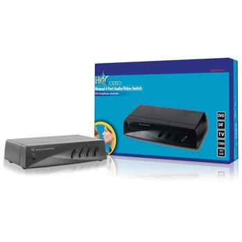 HQ SW-AV210 - přepinač A/V vstupů 4 > 1, CINCH + S-VHS - HQSW-AV210
