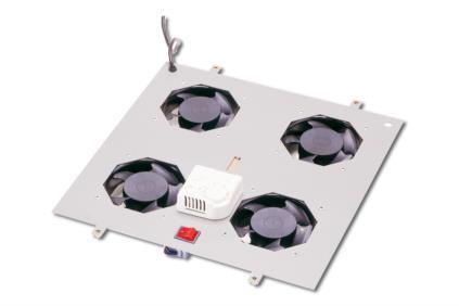 Digitus stropní ventilátor Unique series,4 ventil,vyp.,termostat - DN-19 FAN-4-N