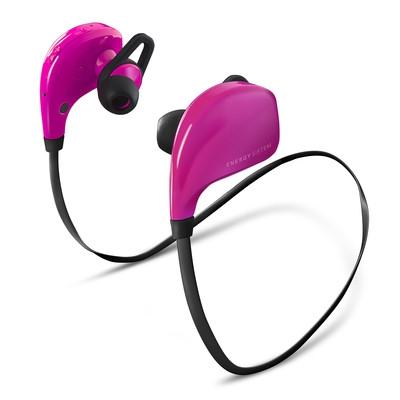 ENERGY Earphones BT Sport Pink, sluchátka s mikrofonem Bluetooth V4.0 class II, EAR FIX - 420377