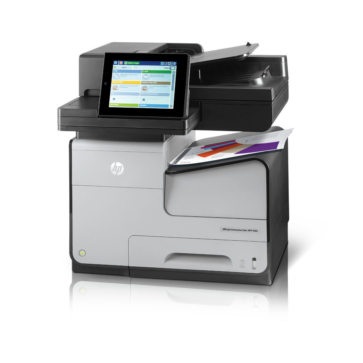 HP Officejet Enterprise Color MFP X585dn (A4,72 ppm, USB 2.0, Ethernet, Duplex, Print/Scan/Copy) - B5L04A