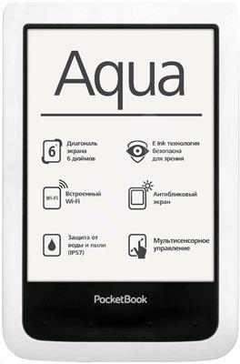 PocketBook 640 Aqua White Touch ebook reader, 6´´ E-ink 800x600 LCD, Wifi, 4GB/SD, voděodolná +100 k - PB640 W