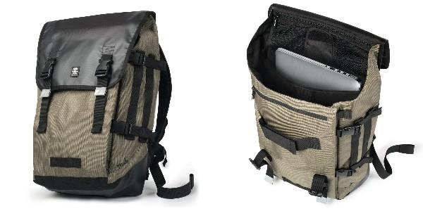 Crumpler Muli Backpack XL - black tarpaulin / khaki - MUBP-XL-004