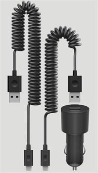 Nokia dvojitá USB nabíječka do auta Nokia DC-20, nové balení (2x micro USB) - 02738K9
