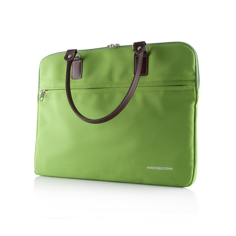 "Modecom taška Charlton na notebooky do velikosti 15,6"" zelená, hnědá rukojeť, dámská - TOR-MC-CHARLTON-GRN"
