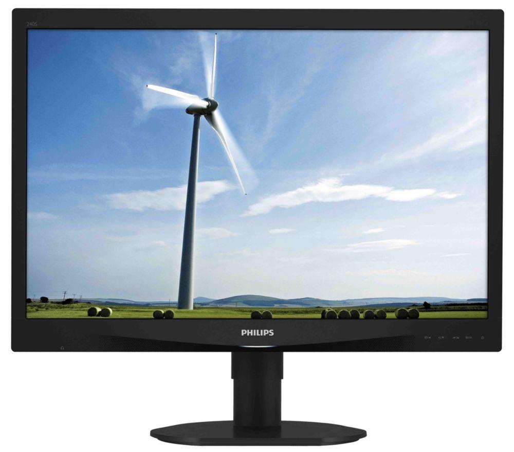 """Philips LCD 240S4QMB 24""""wide/1920x1200/5ms/20mil.:1/DVI/LED/PLS/pivot/repro - 240S4QMB/00"""