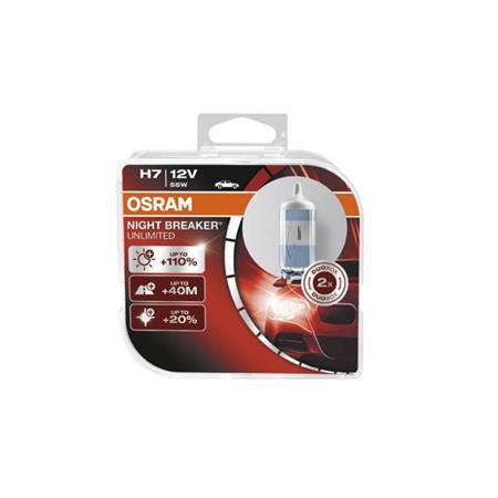 OSRAM žárovka H7 12V, 55W Night Breaker Unlimited - sada 2 kusů - 3132260511