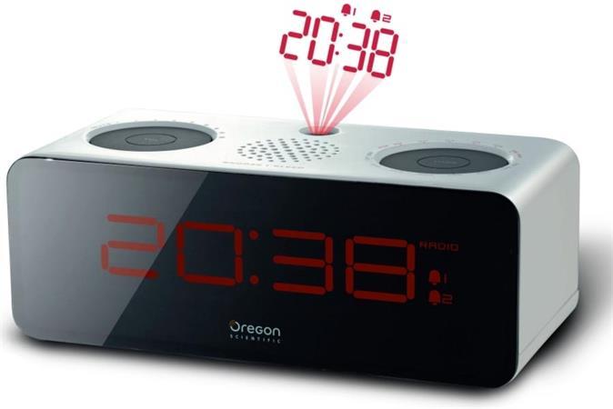 Oregon Scientific RRA320PW rádiobudík s projekcí, FM rádio, bílý - RRA320PW