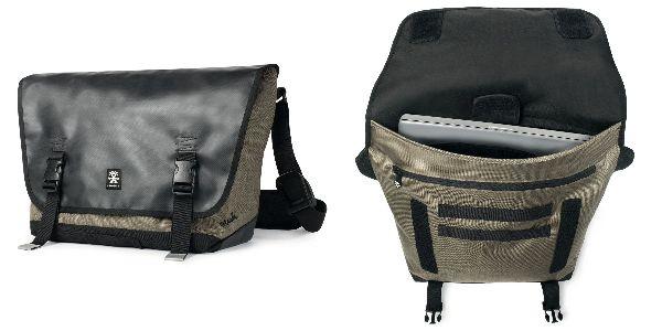 Crumpler Muli Messenger M - black tarpaulin / khaki - MUM-M-004