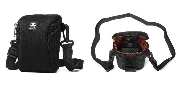 Crumpler Base Layer Camera Pouch M - black/rust red - BLCP-M-001