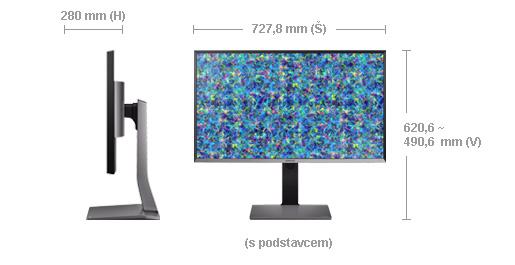 "Samsung LED LCD 31,5"" U32D970 - PLS, 3840x2160, 8ms, 280cd, DVI, 2xDP, HDMI - LU32D97KQSR/EN"