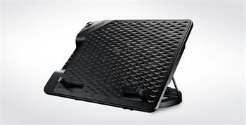 "Coolermaster chladicí podstavec NotePal ErgoStand III pro NTB do 17"", USB hub, black, 23cm fan - R9-NBS-E32K-GP"