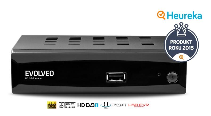 EVOLVEO Alpha HD, HD DVB-T multimediální rekordér, HDMI, Scart, USB, MKV/MOV/MPEG/MP3/WMA/JPEG - DT-3050HD