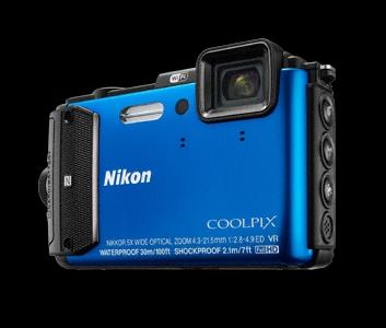 NIKON COOLPIX AW130 - 16 MP, 5x zoom VR - Blue - VNA841E1