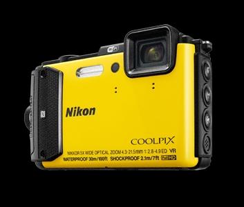 NIKON COOLPIX AW130 - 16 MP, 5x zoom VR - Yellow - VNA844E1