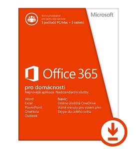 Office 365 pro domácnosti 32-bit/x64 All Lng - předplatné na 1 rok - elektronická licence - 6GQ-00092