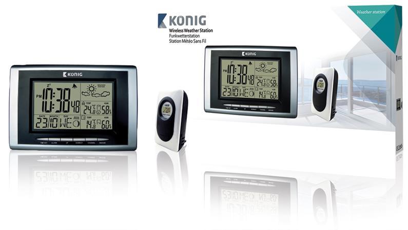 König KN-WS400N - Meteostanice s venkovním čidlem - KN-WS400N