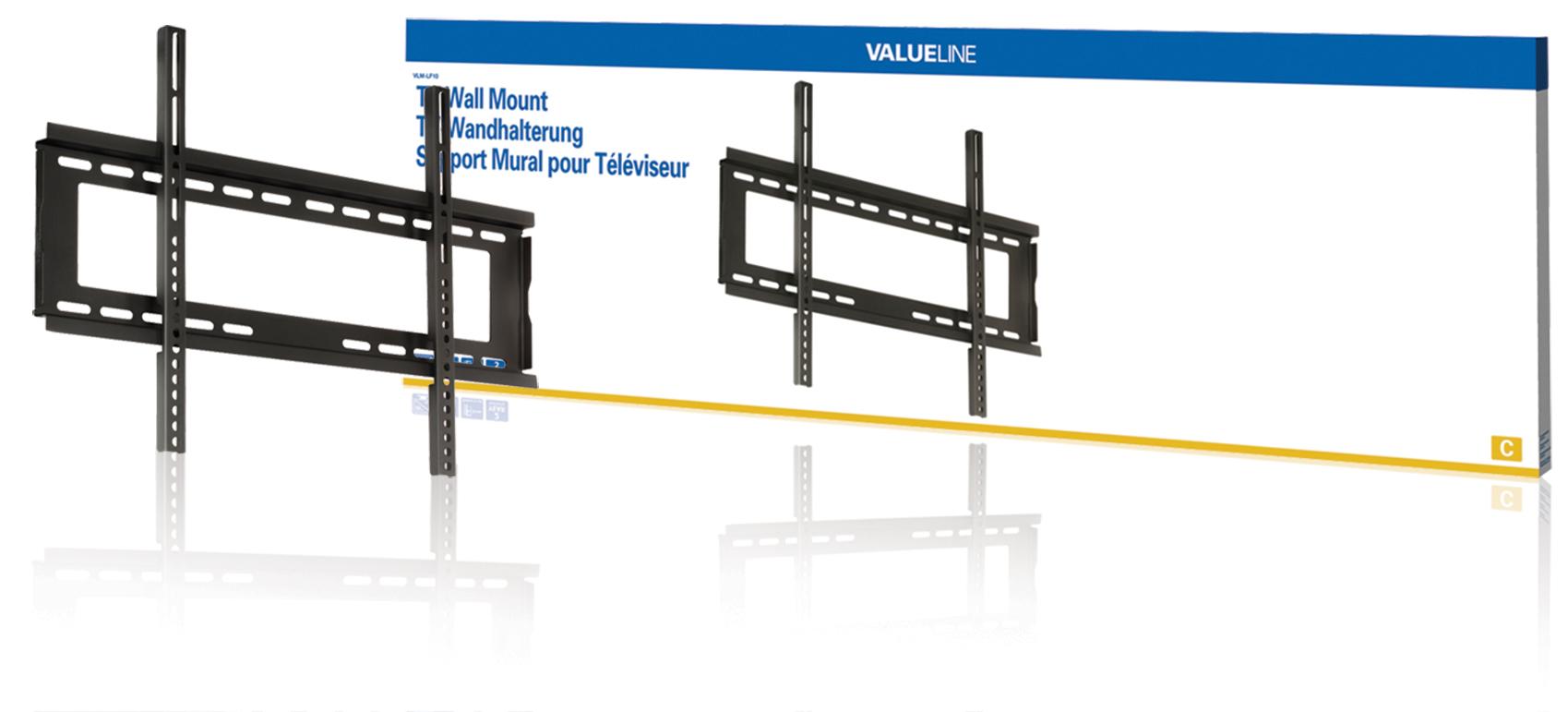 """Valueline VLM-LF10 - Nástěnný držák televizoru, fixní, 42 až 65""""/ 107 až 165cm, 45kg - VLM-LF10"""