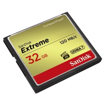 SanDisk CF 32 GB Extreme (120/85 MB/s, VPG20, UDMA7) - 124093