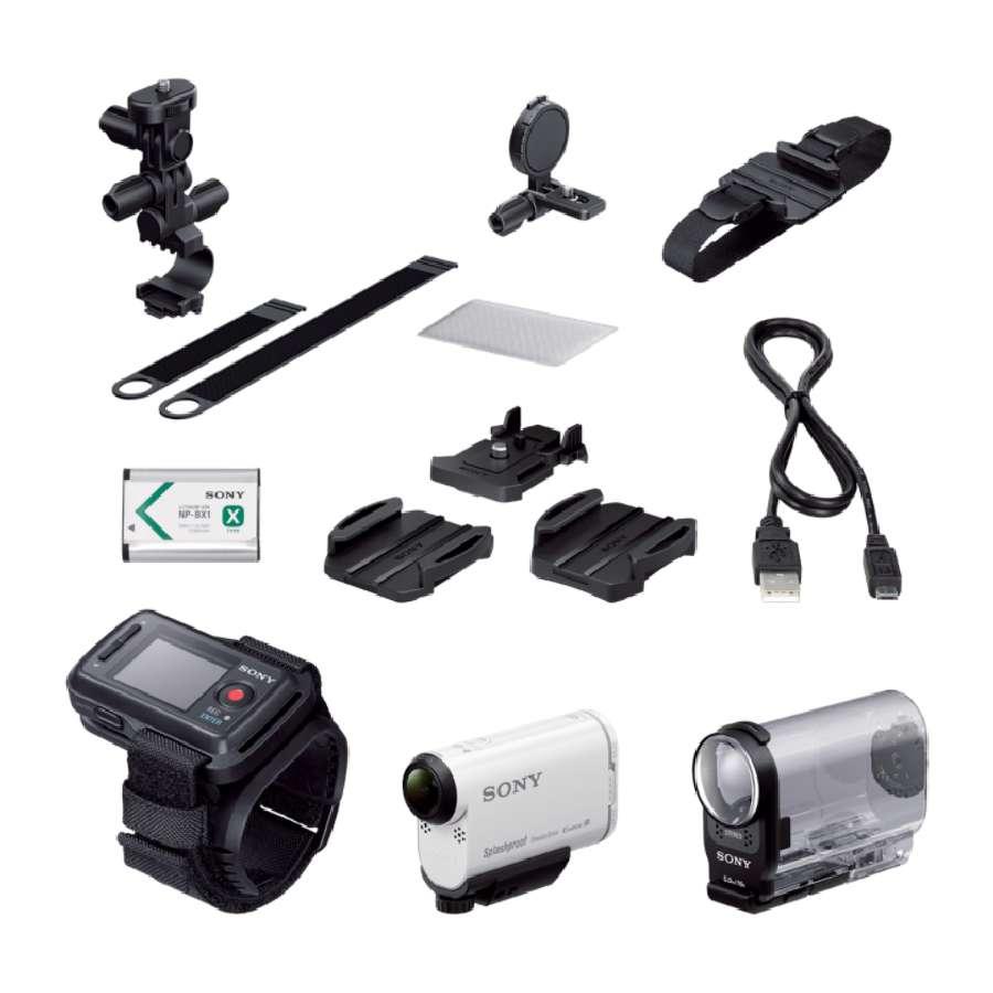 SONY HDR-AS200VB Videokamera Action Cam s technologií Wi-Fi® a GPS - s příslušenstvím na kolo - HDRAS200VB.CEN