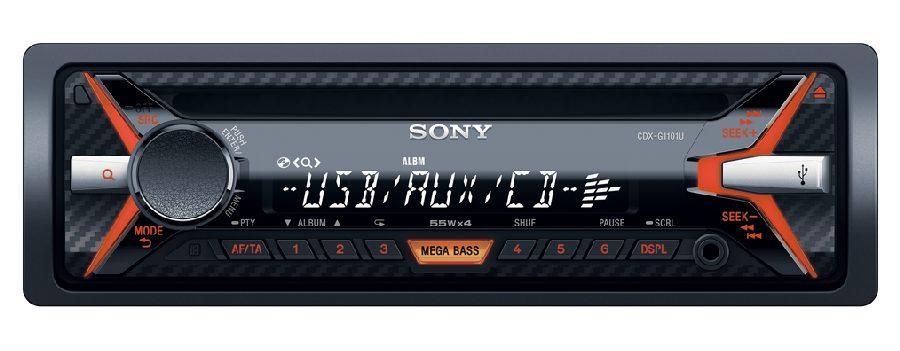 SONY CDX-G1100 Přehrávač CD a MP3, USB, AUX vstup - CDXG1100U.EUR