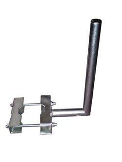 """Anténní držák na stožár """"L"""", délka 25 cm, výška 50 cm, d=42mm se zubatkami - 3021360"""